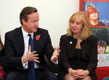 David Cameron meets Coram CEO Carol Homden and adoptive parents