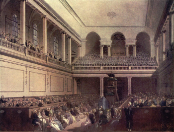 Engraving of the Foundling Hospital chapel