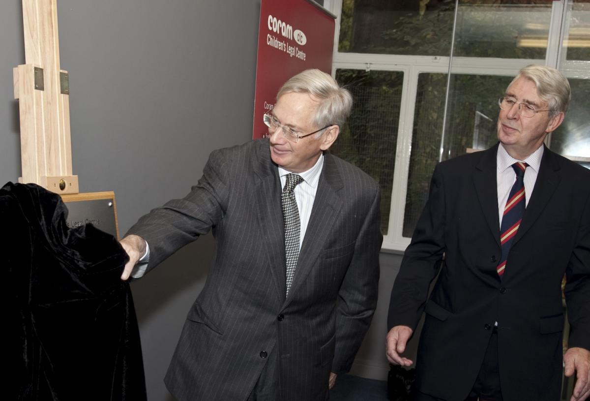 CCLC Launch_Duke of Gloucester unveils plaque with Ted Hartill