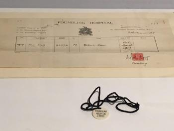 Foundling Hospital birth certificate