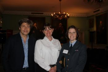 Host, Leo Johnson with Dany Cotton and Clare Muir
