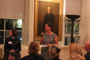 Chair of the Coram Women's Chapter, Helen Pickstock and guests