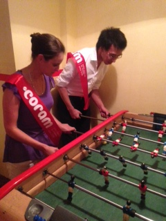 Architas table football fundraiser for Coram