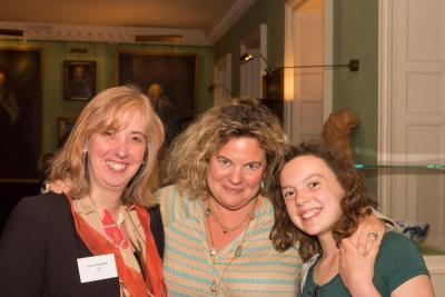Dr Carol Homden, CEO of Coram, with 'Inspiring Women' moderator Eleanor Mills and daughter