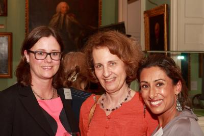 Chair of The Coram Women's Chapter, Helen Pickstock with CCLC's Director of International Programmes and Research Professor Carolyn and Saira Khan.