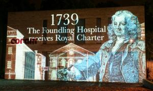 Coram celebrating 275 years of helping children with surprise illuminations