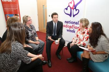 Edward Timpson during National Adoption Week