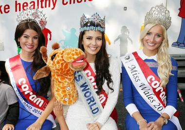 Miss England, Miss World and Miss Wales at Coram