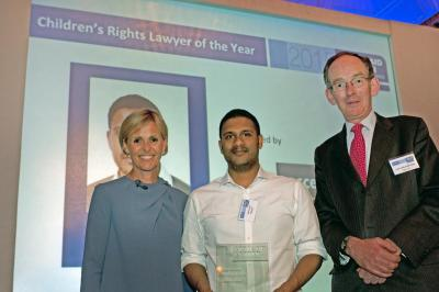 Noel Arnold winning children's rights lawyer of the year award for his work with CCLC
