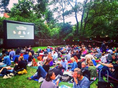 Nomad Cinema in Coram's Secret Garden