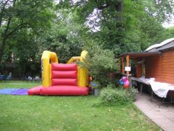 Bouncy castle at picnic