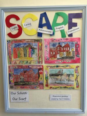 CLE SCARF display at Allerton Primary School