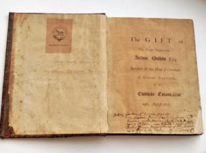 Prayer book belonging to Coram founder Thomas Coram