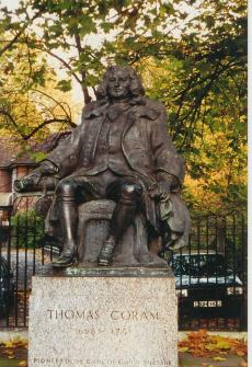 Thomas Coram statue in the heart of London