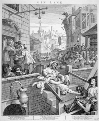 Gin Lane, William Hogarth (1751)