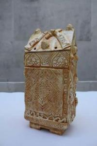 Ceramic reliquary by Grayson Perry