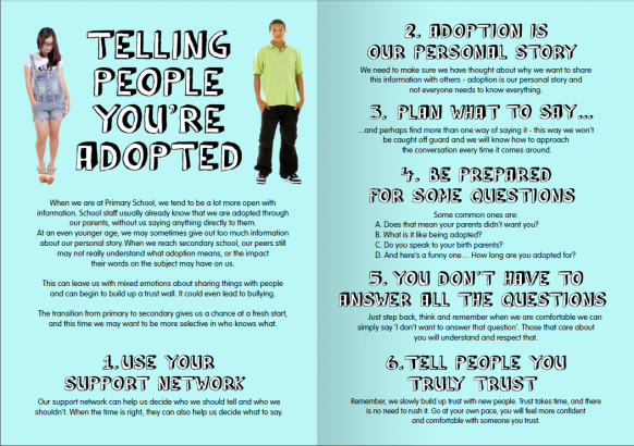 Adoptables Magazine Issue 2 - Telling People You're Adopted