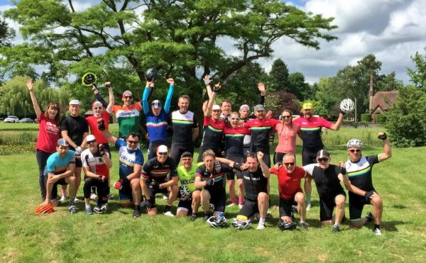 Club Peloton celebrate reaching £1 million in funds raised for Coram