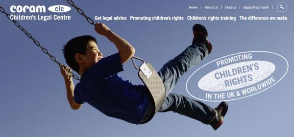Coram Children's Legal Centre homepage