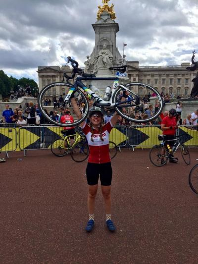 Coram's Amy Story took on RideLondon 2017