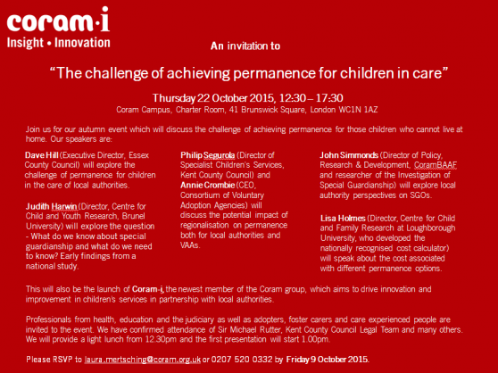 'The challenge of achieving permanence for children in care'