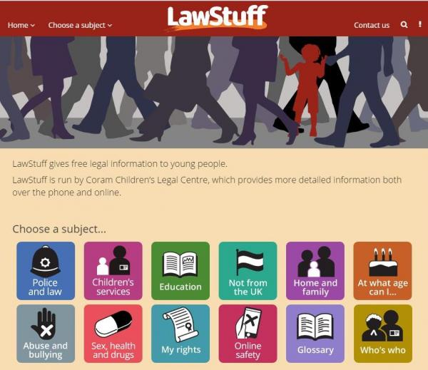 LawStuff website homepage