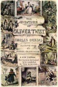 First edition cover of Oliver Twist by Coram early supporter Charles Dickens