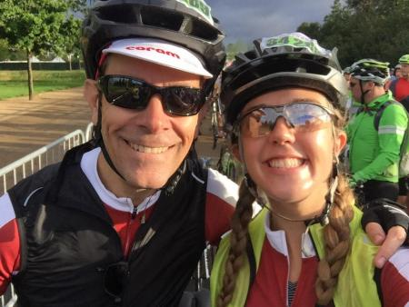 Amy Story and her Dad at RideLondon 2017
