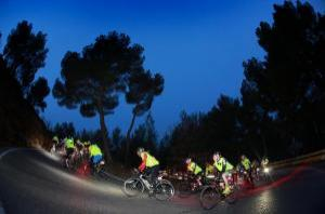cyclists cycle through France
