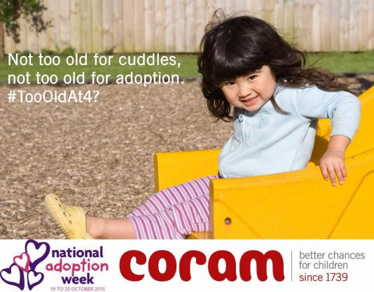 Coram's social media campaign message
