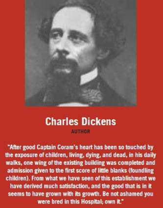 Charles Dickens on Coram pledge wall