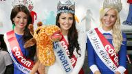 Image of Miss England, Miss World and Miss Wales