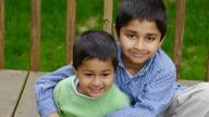 young Indian boys smiling