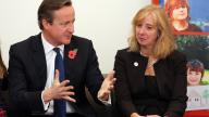 David Cameron meets Carol Homden, CEO of Coram, and adoptive parents