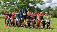 Club Peloton celebrating reaching £1 million in funds raised for Coram