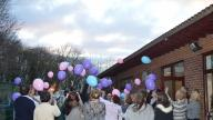 Coram East Midlands Big Adoption Day event - helium balloons are released
