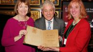 Harriet Harman MP, John Bercow MP and Dr Carol Homden CBE
