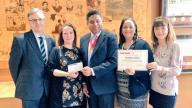 Coram receives cheque for £14,000 fundraised by Harrow Council