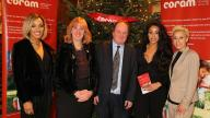 Stooshe with Dr Carol Homden and James Naughtie at Coram carol concert 2015