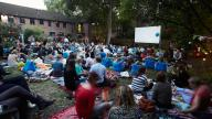 The Nomad Cinema in Coram's Secret Garden