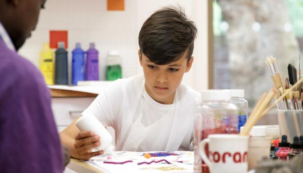 How can art therapy help a child recover from abuse?