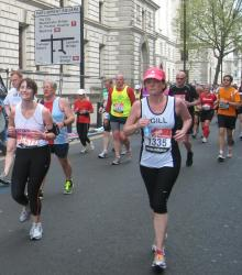Group shot of runners in London Marathon